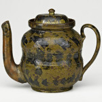 Rare teapot by George Ohr, $40,000-$60,000. Price realized: $46,875. Rago Arts & Auction Center image.