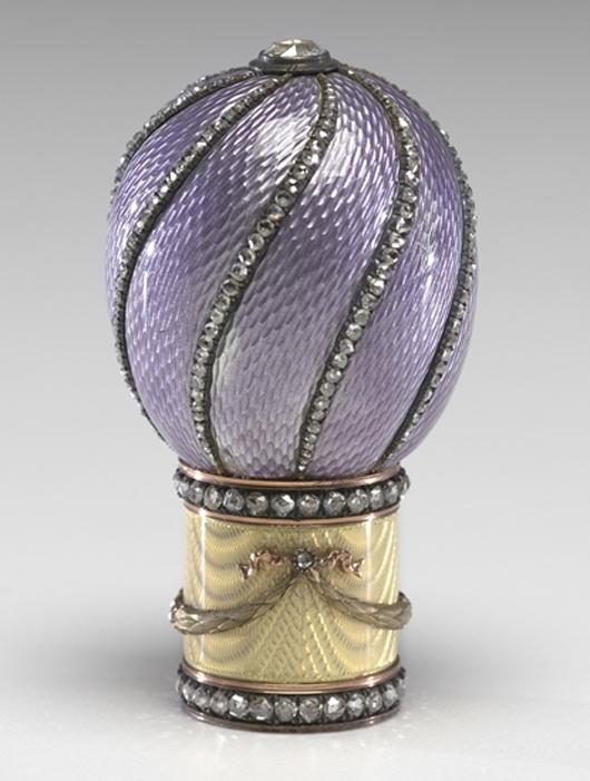 House of Fabergé, Mikhail Perkhin, workmaster, Cane Handle, before 1899, gold, enamel, diamond. Virginia Museum of Fine Arts, Richmond. Bequest of Lillian Thomas Pratt (photo: Katherine Wetzel. © Virginia Museum of Fine Arts)