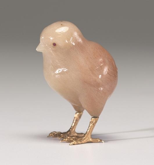 House of Fabergé, Chick, 1899–1908, aventurine quartz, gold, ruby. Virginia Museum of Fine Arts, Richmond. Bequest of Lillian Thomas Pratt (photo: Katherine Wetzel. © Virginia Museum of Fine Arts)