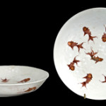 Pair of Chinese porcelain bowls from the estate of Ann Rutherford, Beverly Hills, 9 1/2 inches diameter; 1 3/4 inches high. Estimate: $10,000-$15,000. Abell Auction Co. image.