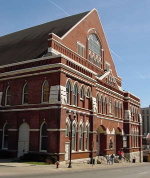 The arts streetscape project in Nashville is two blocks north of the historic Ryman Auditorium. Image by Ryan Kaldari, courtesy of Wikimedia Commons.
