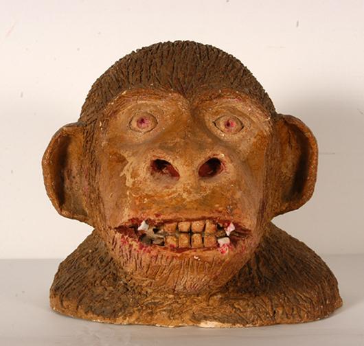 Louis Brown, 'Monkey Face Bust,' 1940. Estimate: $1,000-$3,000. Slotin Auction image.