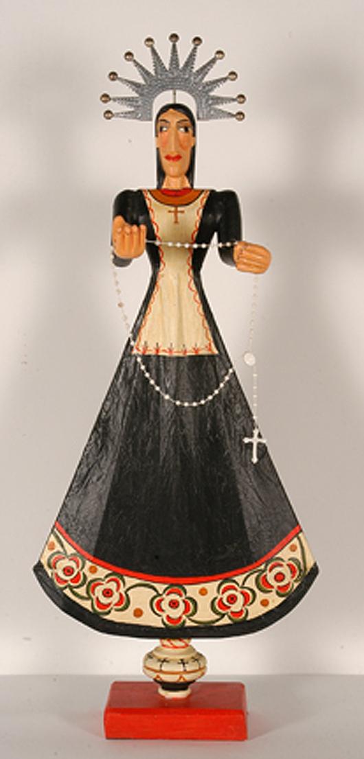 Marie Romero Cash, 'Our Lady of Solitude,' Estimate: $1,000-$2,000. Slotin Auction image.