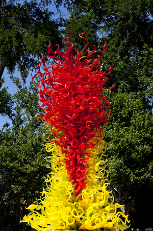 Dale Chihuly installation at the Dallas Arboretum. Photo Credit: Chihuly Studios. Used by permission.