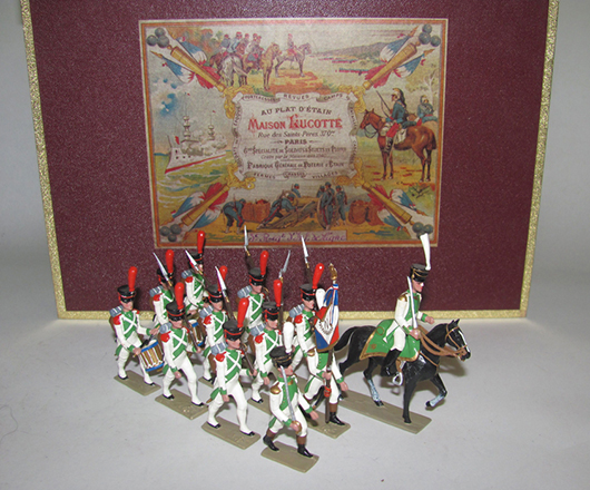 Lucotte (modern) 3rd Regiment Infantry of the Line, 12 pieces, boxed, excellent condition. Est. $250-350. Old Toy Soldier Auctions image.