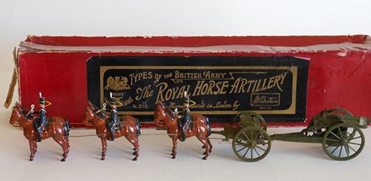 Britains Set # 316 Royal Horse Artillery at the Halt with escort and officer. Est. $2,500-$3,500.