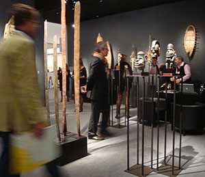 The stand of Paris-based Galerie Meyer at the recent London Frieze Masters fair. The event