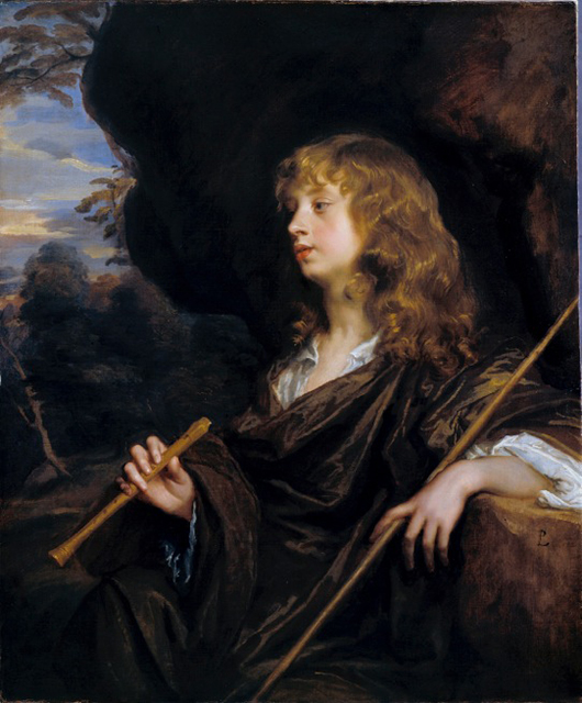 Peter Lely (1618-80), 'Boy as a Shepherd,' c. 1658-60. Oil on canvas. On view in 'Peter Lely: A Lyrical Vision' at the Courtauld Gallery, London until Jan. 13. Image courtesy Dulwich Picture Gallery, London and the Courtauld Gallery.