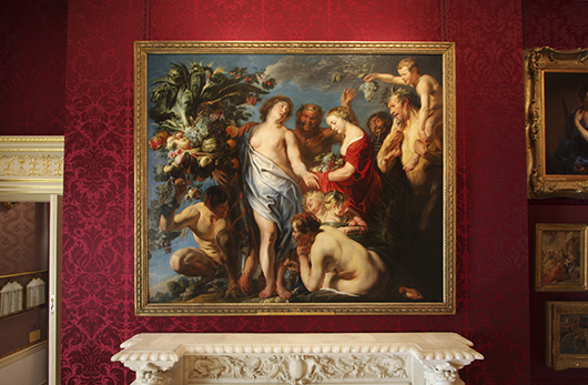 Jacob Jordaens, 'Allegory of Fruitfulnesson' view at the Wallace Collection and recently conserved thanks to a donation from London's Masterpiece Fair. Image courtesy of the Wallace Collection.