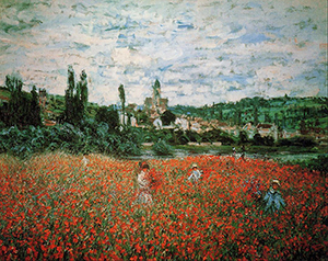 Claude Monet (French, 1840-1926), 'Poppy Field near Vetheuil,' completed 1879.