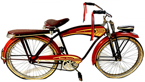 1947 Monark Super Delux boys bicycle in all original condition. Sold by Saco River Auction Co. on Sept. 19, 2012 for $767 to an Internet bidder using LiveAuctioneers.com. Image courtesy of LiveAuctioneers.com Archive and Saco River Auction Co.