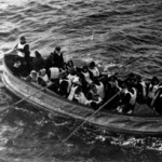 Last lifeboat successfully launched from the 'Titanic,' April 15, 1912. Photo was taken by a passenger on the 'Carpathia,' the ship that received the 'Titanic's' distress signal and came to rescue the survivors. National Archives and Records Administration image, cataloged under the ARC Identifier (National Archives Identifier) 278338.