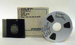 The Beatles' Decca tape B. Fame Bureau image.