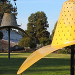 The Claes Oldenburg sculpture 'Hat in Three Stages of Landing.' Image by Trish Triumpho Sullivan, http://www.destinationsalinas.com. This work is licensed under the Creative Commons Attribution 3.0 License.