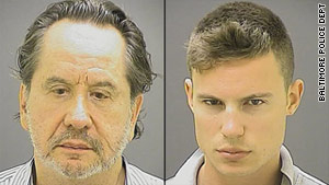 Barry Landau (left) was sentenced earlier this year to seven years in prison for stealing historical documents from historical societies and libraries. Last week Jason Savedoff (right) was sentenced to one year and a day for his role in the crimes. Image courtesy of Baltimore Police Dept.