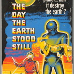 The Day the Earth Stood Still die-cut standee, 1951, 5ft tall, possibly the only complete example known. Est. $25,000-$50,000. Morphy Auctions image.