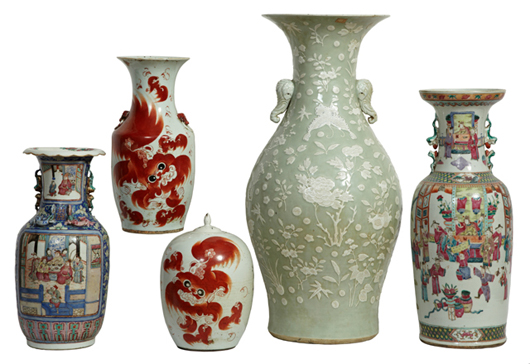 A fine selection of 19th century Chinese porcelains will feature Celadon, Feng and Hsien. Crescent City Auction Gallery image.