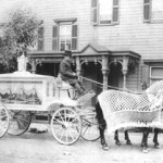 Circa-1900 horse-drawn funeral hearse with driver. Image courtesy of Neil Regan Funeral Home, Scranton, Pa. Image licensed under the Creative Commons Attribution-ShareAlike 2.5 License.