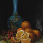 Edward August Bell (American 1862-1953), 'Still Live with Oranges & Cherries,' oil on canvas, signed lower right 'E.A. Bell.' Estimate: $3,000/5,000. Michaan's Auctions image.