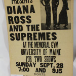 A 1969 concert poster for Diana Ross and the Supremes. Image courtesy of LiveAuctioneers.com and Saco River Auction.
