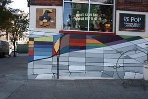 Mural by Ellie Balk, New York. Photo by Kelsey Savage.