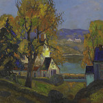 Fern Isabel Coppedge, 'Autumn, Bucks County,' price realized: $62,500. Rago Arts & Auction Center image.