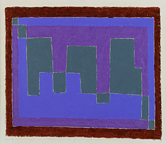 Josef Albers, 'Study for Painting: Mirage A,' price realized: $81,250. Rago Arts & Auction Center image.