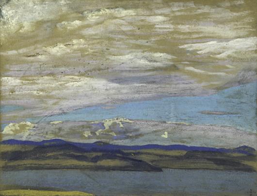 Nicholas Konstantinovich Roerich, untitled, price realized:$87,500. Rago Arts & Auction Center image.