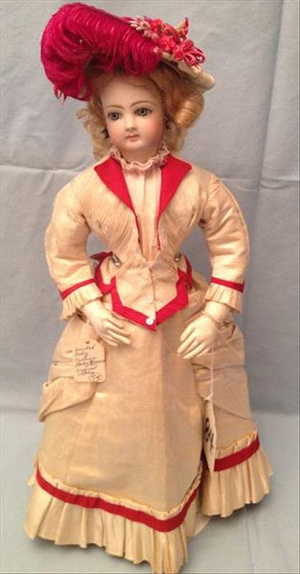 French Jumeau bisque fashion lady doll. The Specialists of the South Inc. image.