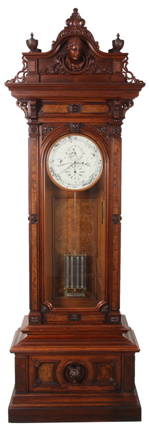This E. Howard & Co. astronomical regulator No. 46 clock sold for a record-setting $230,100. Fontaine's Auction Gallery image.