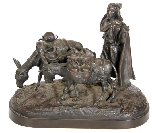 Bronze figural grouping by the noted 19th century Russian sculptor E.A. Lanceray. Price realized: $22,420. Fontaine's Auction Gallery image.