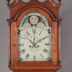 Shenandoah Valley tall-case clock by Jacob Fry & Caleb Davis, circa 1800, Woodstock, Va., $92,000. Jeffrey S. Evans image.