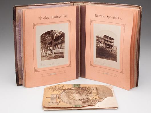 Rawley Springs, Va., photo album, $2,760. Jeffrey S. Evans image.