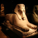 An example of a typical Egyptian sphinx. Egyptian Museum, Torino, Italy. Image by Tim Adams. This file is licensed under the Creative Commons Attribution-Share Alike 3.0 Unported license.