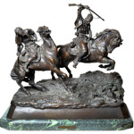 From a private collection this bronze titled 'Galloping Cherkessians' by Vassili Yacovlevitch Grachev (Russian, 1831-1905) sold for $15,405. Clars Auction Gallery Image.