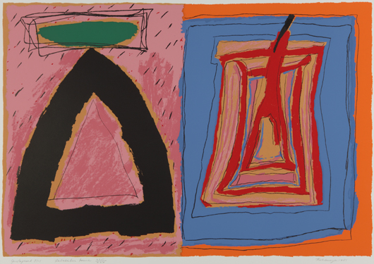 'Juxtaposed,' a 1981 screenprint, is part of the current exhibition Ida Kohlmeyer: 100th Anniversary Highlights, at the New Orleans Museum of Art through February 10, 2013. Courtesy New Orleans Museum of Art