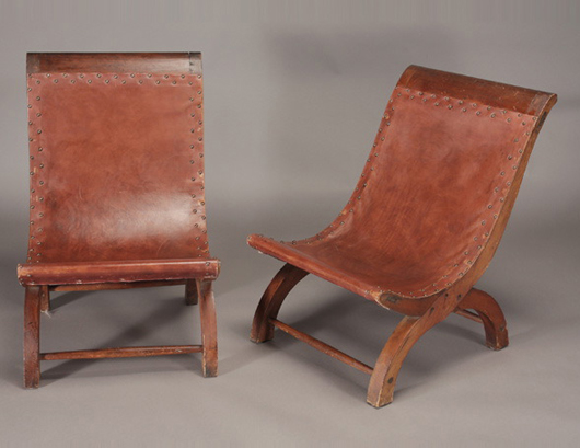 Pair of Spratling chairs. Sold for $4,130. Michaan's Auctions image.