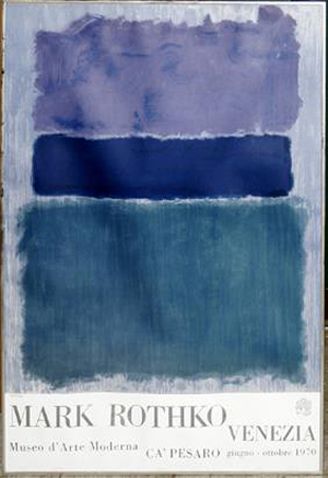 A color lithograph by Mark Rothko (American 1903-1970). Image courtesy of LiveAuctioneers.com Archive and DuMouchelles.