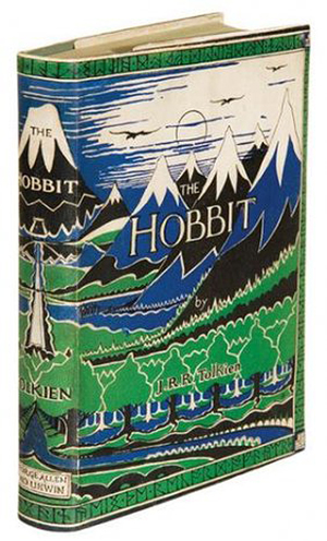 First edition of J.R.R. Tolkien's 'The Hobbit, Or There and Back Again,' London: George Allen & Unwin Ltd, 1937. Image courtesy LiveAuctioneers.com and Bloomsbury Auctions.