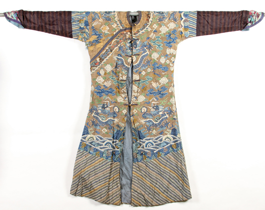 One of nine Chinese robes. John McInnis Auctioneers image.