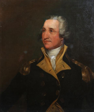 Oil on canvas 'Gen. George Washington,' attributed to John Trumbull (American 1756-1843), 30 x 24 ½ inches. Estimate: $20,000-$30,000. John McInnis Auctioneers image.