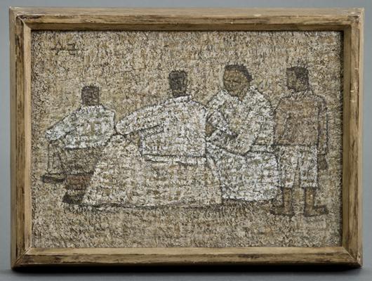 Park Soo Keun (Korean 1914-1965) oil on board painting titled 'Recess.' Estimate: $200,000-$400,000. John McInnis Auctioneers image.