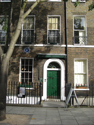 The Charles Dickens Museum in London. The author lived in the Georgian terraced house at 48 Doughty Street for nearly three years in the late 1830s. Image by Jack 1956, courtesy of Wikimedia Commons.