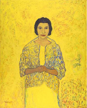 Beauford Delaney (American, 1901-1979), Marian Anderson, 1965, oil on canvas, 63 x 51½ in., J. Harwood and Louise B. Cochrane Fund for American Art. Image reproduced with permission of VFMA.