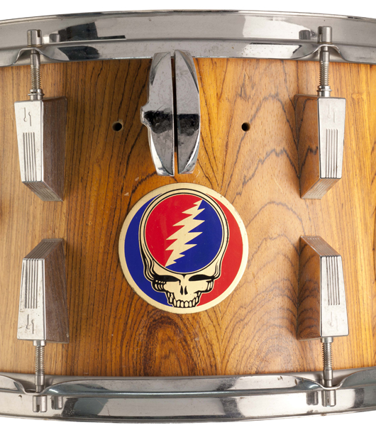 Mickey Hart drum art 'Steal Your Face.' Rock and Roll Hall of Fame.