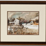 Nick Ruggieri (American, 20th century), 'Harrisburg, Market Square,' watercolor on paper, 15 x 20 inches. Ruggieri was a founding member of the Pennsylvania Watercolor Society. Image courtesy LiveAuctioneers.com Archive and Cordier Auctons.