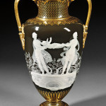 Minton's Marc-Louis Solon decorated pate-sur-pate vase, England, late 19th century. Estimate: $20,000-30,000. Skinner Inc. image.
