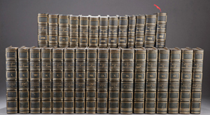 Works of Charles Dickens, 30 volumes, Library Edition, Publ. Chapman and Hall, London, 1861-63. Sold by Quinn's Auction Galleries on Dec. 6, 2012 for $70,800. Waverly Rare Books image.