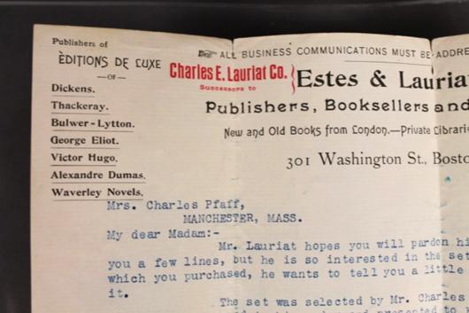 Part of letterhead from Sept. 30, 1898 letter of provenance. Waverly Rare Books image.