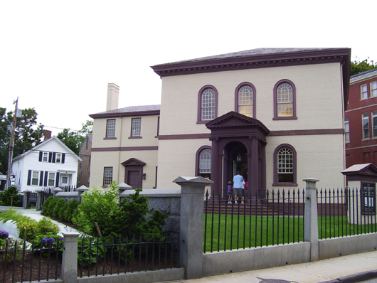 The Touro Synagogue in Newport, R.I. Image by Swampyank at en.wikipedia. This file is licensed under the Creative Commons Attribution-Share Alike 3.0 Unported license.